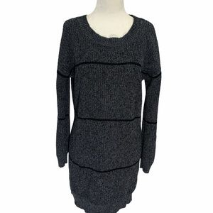 Burton Cable Knit Sweater Dress Grey Size Small